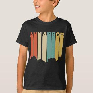 Retro Horizon van Ann Arbor Michigan van de Stijl T Shirt