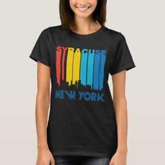 Retro Horizon van Syracuse New York van de Stijl T Shirt