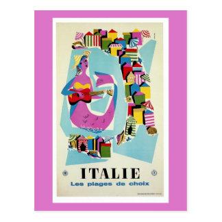 Retro Italiaanse adverterene reis van vintage Briefkaart