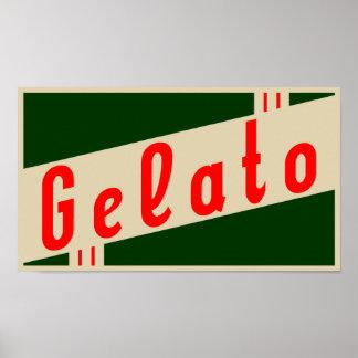 retro Italiaanse gelato Poster