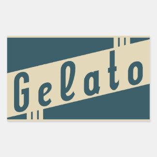 retro Italiaanse gelato Rechthoekige Sticker