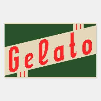 retro Italiaanse gelato Rechthoekvormige Sticker