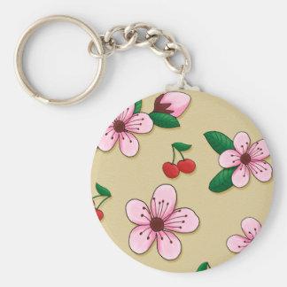 Retro Japanse Bloesem Keycain van de Kers Sleutelhanger