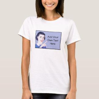 Retro jaren '50 die Vrouw richten T Shirt