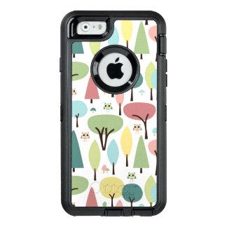 Retro Jonge uilen in iPhone 6 van het Bos Hoesje