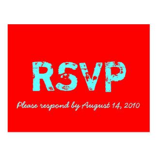 Retro Kaart RSVP Briefkaart