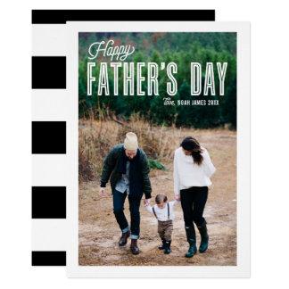 Retro Kaart van het Vaderdag van de Foto van de