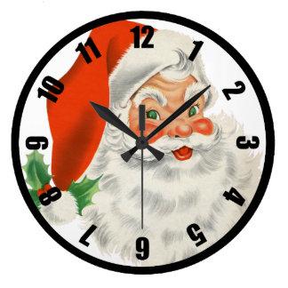 Retro Kerstman en Hulst Grote Klok