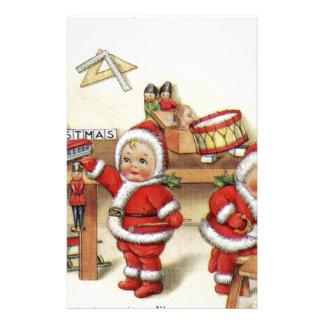 Retro Kerstman van het de kunstbaby van Kerstmis Briefpapier