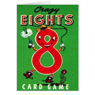 Retro Kinder Kaartspel Gekke Eights van de Vintage Kaart
