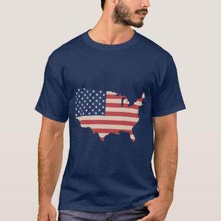 Retro Kleuren van de Kaart van de Vlag van de V.S. T Shirt