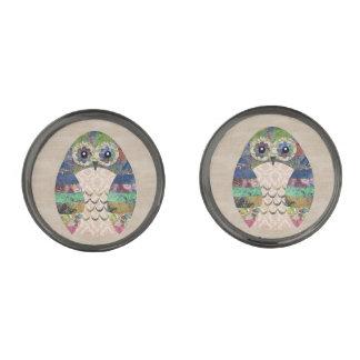 Retro Kleurrijke Douane van de Vogel van Boho van Verbronsde Manchetknopen