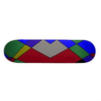 Retro Kleurrijke Samenvatting van de Diamant Skate Deck