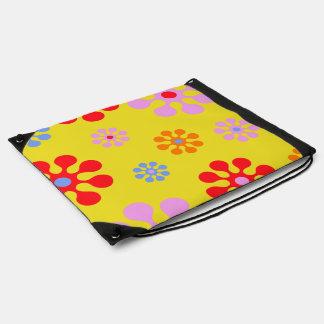 Retro Kleurrijke Zak van de Bloemen van de Hippie Backpack