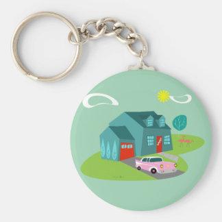 Retro Knoop In de voorsteden Keychain van het Huis Sleutelhanger