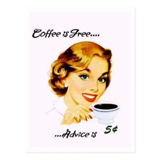 Retro Koffie en de Raad van de Huisvrouw Briefkaart