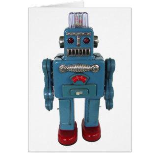Retro Lege Wenskaart van de Robot