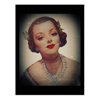 Retro Lippenstift van het Meisje Glam Briefkaart