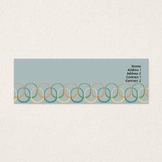 Retro Magere Cirkels - Mini Visitekaartjes