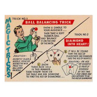 Retro Magische 'Magische Trucs Ad van de Vintage Briefkaart