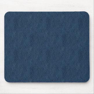 Retro Marineblauwe Douane van het Leer Grunge Muismat