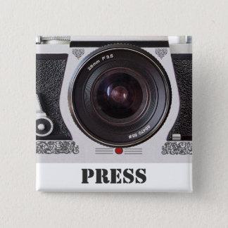 Retro Media van het Effect van de Camera van de Vierkante Button 5,1 Cm