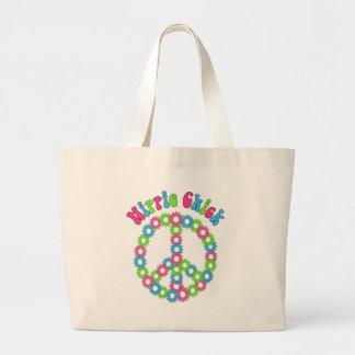 Retro Mod. Bloemen en de T - shirts van het Symboo Tassen