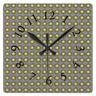 Retro-Modern-Classic_Gray-Olive_Stylish-Clocks Vierkante Klok