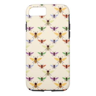 Retro multipatroon van de bijenhommels van de iPhone 7 hoesje