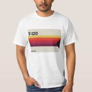 Retro muziek en video grafische cassetteband t shirt