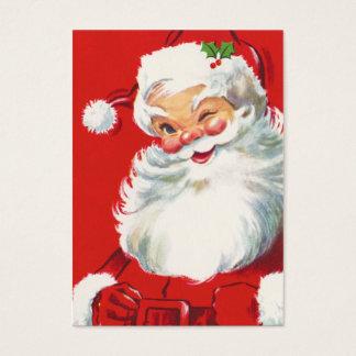 Retro Naamplaatjes van de Kerstman Visitekaartjes