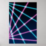 Retro Neonlichten van de jaren '80jaren '90 van de Posters