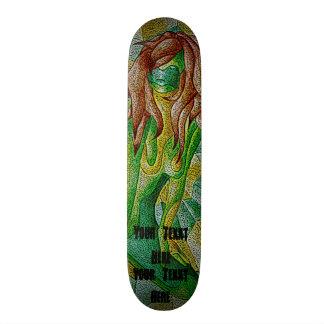 retro ontwerp van de abstracte kunst het groene skateboard decks
