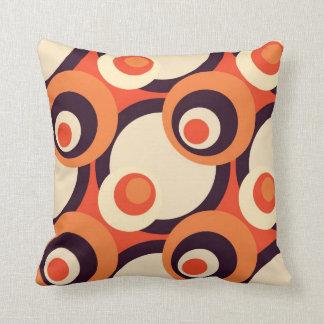 Retro Oranje en Bruine Abstracte Art. van Jaren Sierkussen