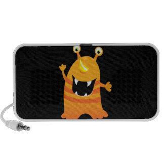Retro Oranje Leuk Monster