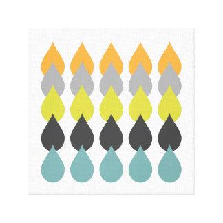 Retro Oranjegeel Blauw Canvas Print