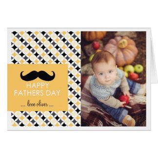 Retro Patroon | de Kaart van het Vaderdag van de