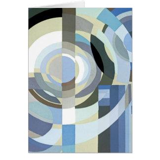 Retro Patroon van de Cirkels van de Jazz van het Kaart