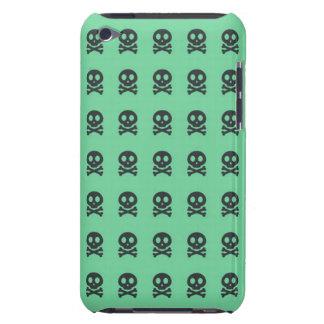 Retro Patroon van de Schedel van de Pret Groene iPod Touch Hoesje