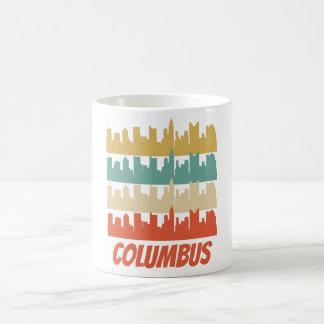 Retro Pop-art van de Horizon van Columbus OH Koffiemok