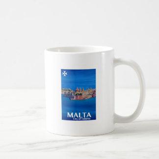 Retro Poster Malta Valletta - Stad van Ridders Koffiemok