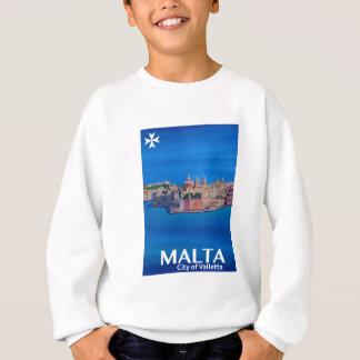 Retro Poster Malta Valletta - Stad van Ridders Trui