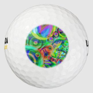 Retro Psychedelische Samenvatting Golfballen