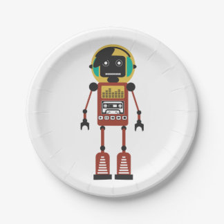 Retro RadioRobot Papieren Bordje