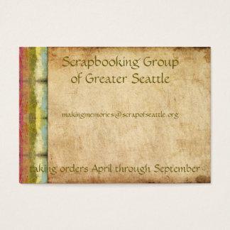 Retro Regenboog Grunge Visitekaartjes