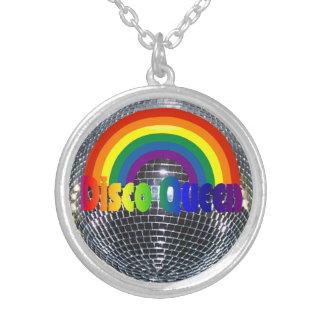 Retro Regenboog | van jaren '70 de Zilveren Zilver Vergulden Ketting