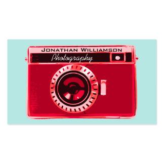 Retro Rode Visitekaartjes van de Fotografie van de