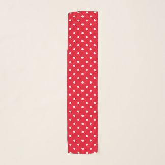 Retro Rode Witte Stippen Sjaal