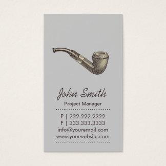Retro Rokende Lichtgrijze Visitekaartje van de Visitekaartjes