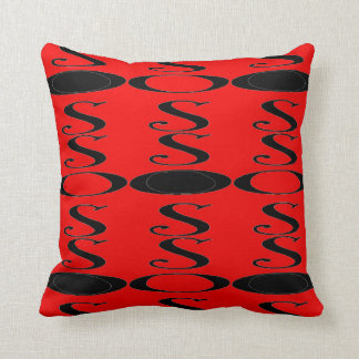 Retro Rood Zwart hoofdkussen Sierkussen